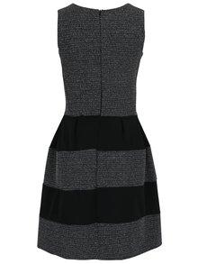 Sivo-čierne pruhované šaty bez rukávov Haily´s Evelyn