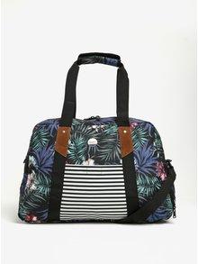 Čierna vzorovaná crossbody taška Roxy Sugar It Up 29 l