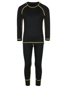 Sada černých klučičích funkčních podvlékacích kalhot a trička Reima Cepheus