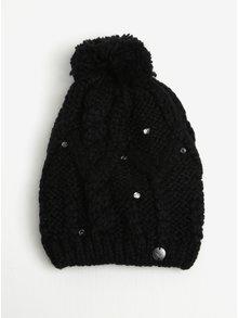 Čierna dámska pletená čiapka s kamienkami Roxy Shoot Star