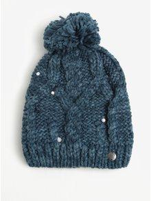 Petrolejová dámská pletená čepice s kamínky Roxy Shoot Star