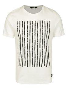 Bílé tričko s potiskem ONLY & SONS Hagret