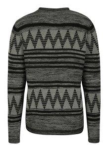 Černo-šedý vzorovaný svetr ONLY & SONS Dudley