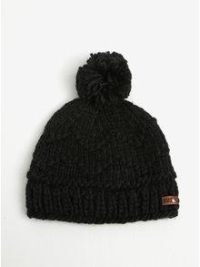 Černá dámská pletená čepice s bambulí Roxy Winter