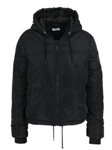 Čierna prešívaná bunda s kapucňou Jacqueline de Yong Sola