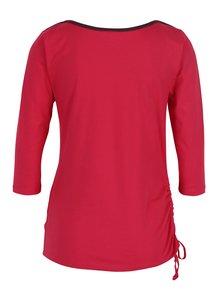 Růžové tričko se zavazováním na boku Tranquillo Jorde