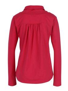 Ružové tričko s golierom Tranquillo Noreen