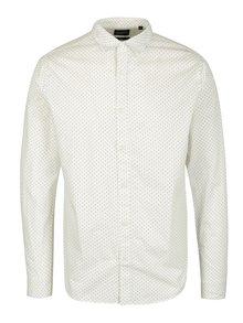 Bílá vzorovaná slim fit košile ONLY & SONS Tesla