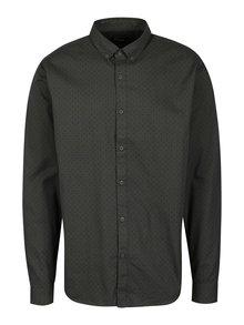 Tmavě šedá vzorovaná slim fit košile ONLY & SONS Tito
