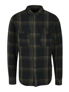 Zeleno-modrá károvaná regural fit košile s kapsami ONLY & SONS Gynter