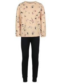 Modro-meruňkové holčičí pyžamo s motivem vlaštovek name it