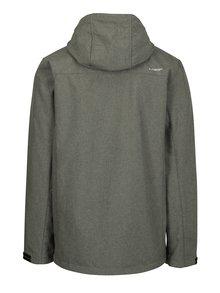 Tmavě šedá pánská softshellová voděodolná bunda s kapucí LOAP Lufim