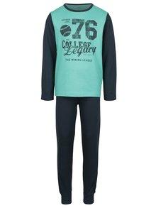 Zeleno-modré klučičí pyžamo s potiskem name it