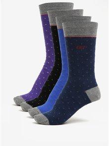 Súprava troch pánskych ponožiek v modrej a čiernej farbe CR7