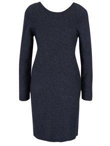 Tmavomodré melírované svetrové šaty VILA Specific
