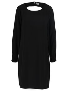 Čierne voľné šaty s prestrihom na chrbte VILA Callie