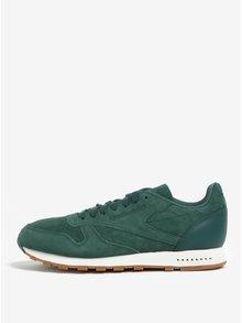 Pantofi sport verde deshis din piele naturală întoarsă pentru bărbați - Reebok