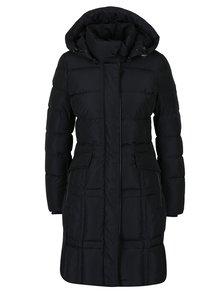 Čierny dámsky prešívaný kabát Geox