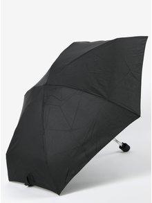 Umbrela neagra telescopica pentru femei RAINY SEASONS Flat Plain
