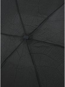 Černý dámský skládací deštník RAINY SEASONS Flat Plain