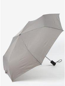 Šedý dámský skládací vystřelovací deštník RAINY SEASONS Moon