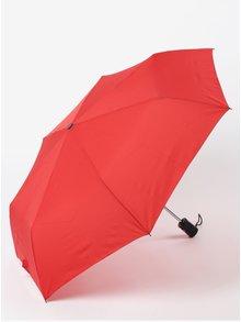 Červený dámsky skladací vystreľovací dáždnik RAINY SEASONS Moon