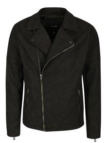 Čierna bunda v semišovej úprave ONLY & SONS Frank