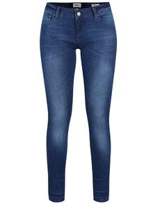 Modré skinny džíny s vyšisovaným efektem ONLY Dylan