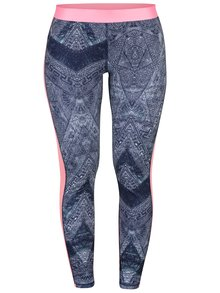 Colanti functionali albastri cu print abstract - Roxy Keep It Warm