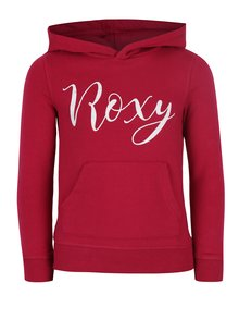 Tmavě růžová holčičí mikina s potiskem Roxy Deep Sky
