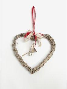 Hnedé ratanové závesné srdce Dakls
