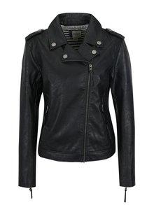 Černý dámský koženkový křivák s kapsami Roxy Midnight