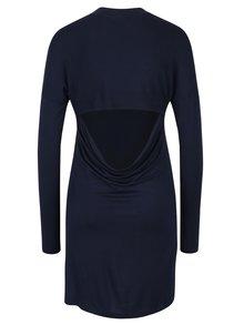 Tmavomodré šaty s holým chrbtom Noisy May Devisonare