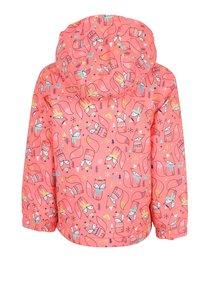 Neónovooranžová dievčenská vzorovaná bunda Roxy Mini Jetty