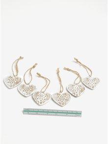 Set de 6 inimioare decorative pentru sarbatori Dakls
