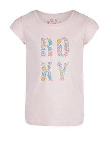 Světle růžové holčičí tričko s potiskem Roxy Rainor Or Shine