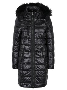 Černý prošívaný kabát VERO MODA Onella