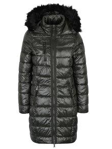 Tmavozelený prešívaný kabát VERO MODA Onella