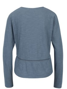 Modré dámske tričko s dierkovanými detailmi Roxy We Make Together