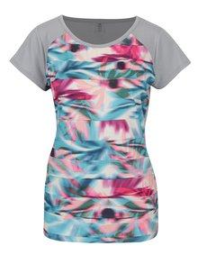 Šedé dámské vzorované tričko Roxy Beath The Rythm