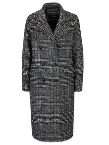 Palton negru&crem in carouri  VERO MODA Higland