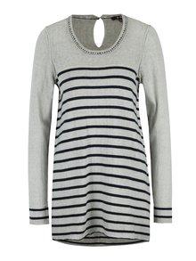 Modro-sivý pruhovaný sveter Yest