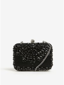 Černá crossbody kabelka/psaníčko s plastickými ozdobami Dorothy Perkins