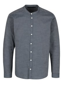 Tmavě modrá pruhovaná košile SUIT Jessen