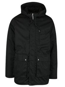 Černá zimní parka s kapucí SUIT Ron