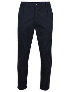 Pantaloni chino albastru inchis cu talie elastica SUIT Liam