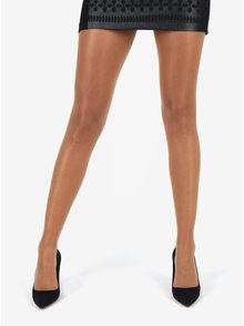 Telové bokové pančuchové nohavice s extra širokým lemom Bellinda Hipster Tights 15 DEN
