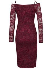 Fialové krajkové pouzdrové šaty AX Paris