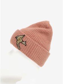 Staroružová dámska čiapka s výšivkou Pieces Regitta