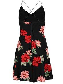 Čierne kvetované šaty s tenkými ramienkami AX Paris